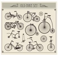 Bicicletas antigas vetor
