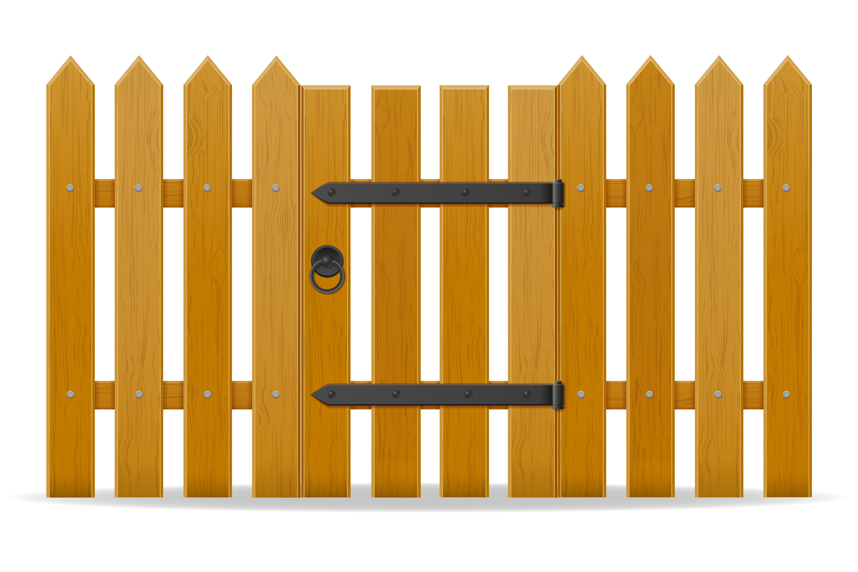 Staccionata Bianca In Legno recinzione in legno con illustrazione vettoriale wicket