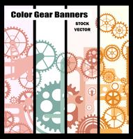 Banners with gears