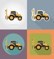 trekker plat pictogrammen vector illustratie