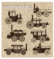 Coches steam-punk vector