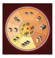 La tabla de producción. vector