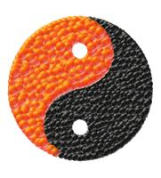 yin and yang made of caviar vector illustration