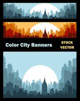 Banners on city theme