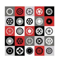 Mosaic of gear
