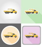 truck with crane for lifting goods vector illustration