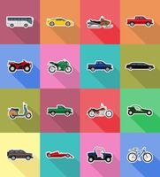 transport flat icons vector illustration