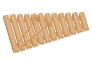 xylophone instruments de musique stock illustration vectorielle