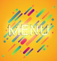 Neonord på färgstark bakgrund, vektor illustration