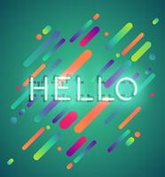 Parola al neon su sfondo colorato, illustrazione vettoriale