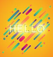 Palabra de neón en el fondo colorido, ilustración vectorial