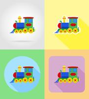 baby toys and accessories flat icons vector illustration