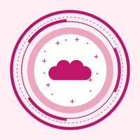 Cloud pictogram ontwerp