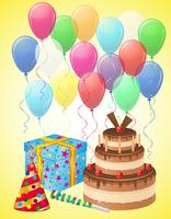 establecer iconos para la ilustración de vector de cumpleaños