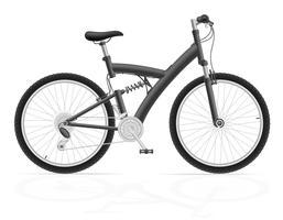 vélo de sport avec l'illustration vectorielle amortisseur arrière