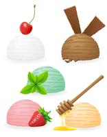 ice cream balls vector illustration
