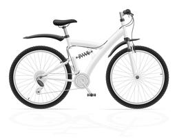 sport fiets met de achterste schokdemper vectorillustratie