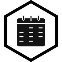 Kalender pictogram ontwerp