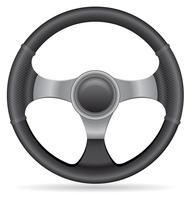 Ilustración de vector de volante de coche