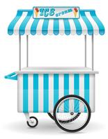 street food cart ice cream vector illustration