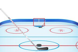 illustration vectorielle stade de hockey