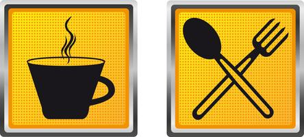 icons cup fork and spoon for design vector illustration