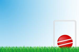 croquet grass field vector illustration