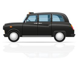 London Auto Taxi Vektor-Illustration