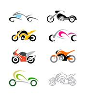 Motorcycle vector icons bundle