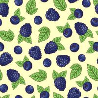 Seamless pattern of vector illustration