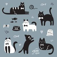 cat character vector design