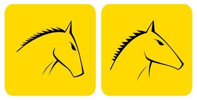 Pferd - Vektor-Symbol