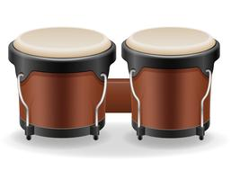 bongo trummor musikinstrument stock vektor illustration
