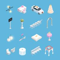 Wedding ceremony isometric elements