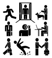 People at work - pictograms