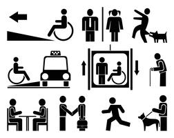 People icons, pictograms