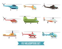 Flying Helikopters Set