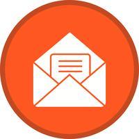 Envelope Glyph Multi color Background