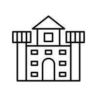 Castle Line Black Icon
