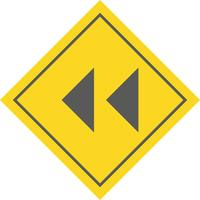 Backward Arrows Icon Design