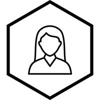 Female Student Icon Design