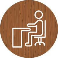 Sitting on Desk Icon Design
