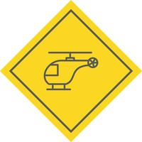 Helicóptero Icon Design vector