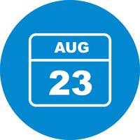 August 23rd Date on a Single Day Calendar
