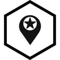 Starred Location Icon Design