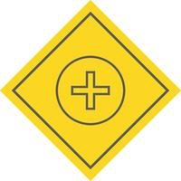Conception d'icône de signe médical