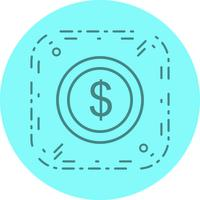 Dollars Coin Icon Design