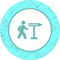 Caminando a la escuela icono de diseño