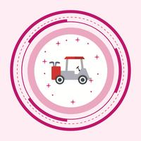 Golf Cart Icon Design