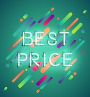 Neon word on colorful background, vector illustration